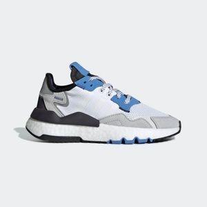 Adidas Nite Jogger J White Blue 3M 5.5Y    N40